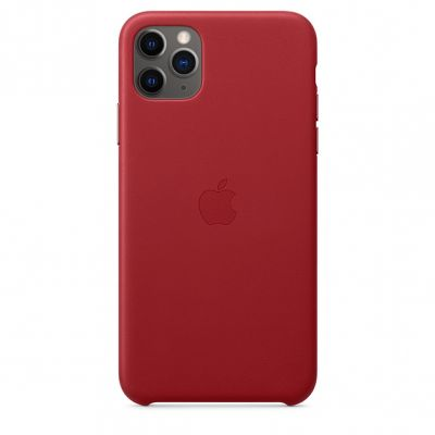 iPhone 11 Pro Max Leather Case - (PRODUCT)RED MX0F2ZM/A