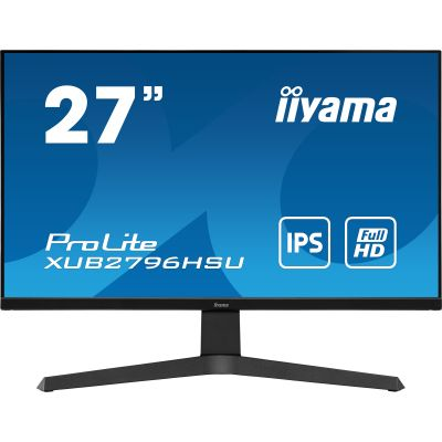 "27"" iiyama XUB2796HSU-B1: IPS, FullHD@75Hz, 1ms, HDMI, DP, USB, FreeSync, height, pivot, černý XUB2796HSU-B1"