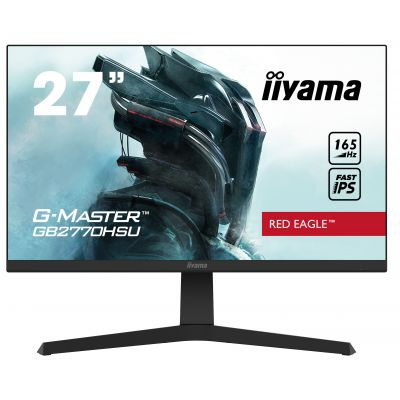 "27"" iiyama G-Master GB2770HSU-B1: IPS, FullHD@165Hz, 250cd/m2, 0.8ms, HDMI, DP, USB, FreeSync, pivot GB2770HSU-B1"