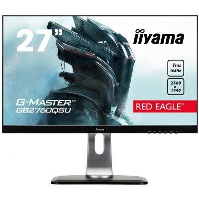 "27"" LCD iiyama G-Master GB2760QSU-B1 - WQHD,144Hz,FreeSync,1ms,350cd/m2,1000:1,DVI,DP,HDMI,USB,repro GB2760QSU-B1"